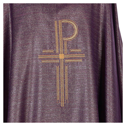 Chasuble Chi-Rho symbol, 100% shiny pure new wool 2