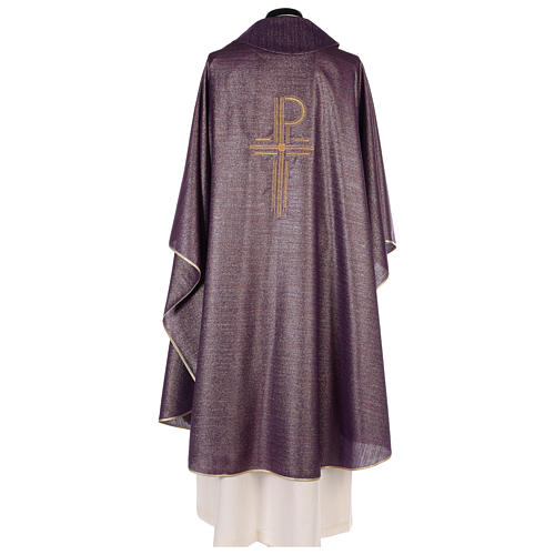 Chasuble Chi-Rho symbol, 100% shiny pure new wool 5