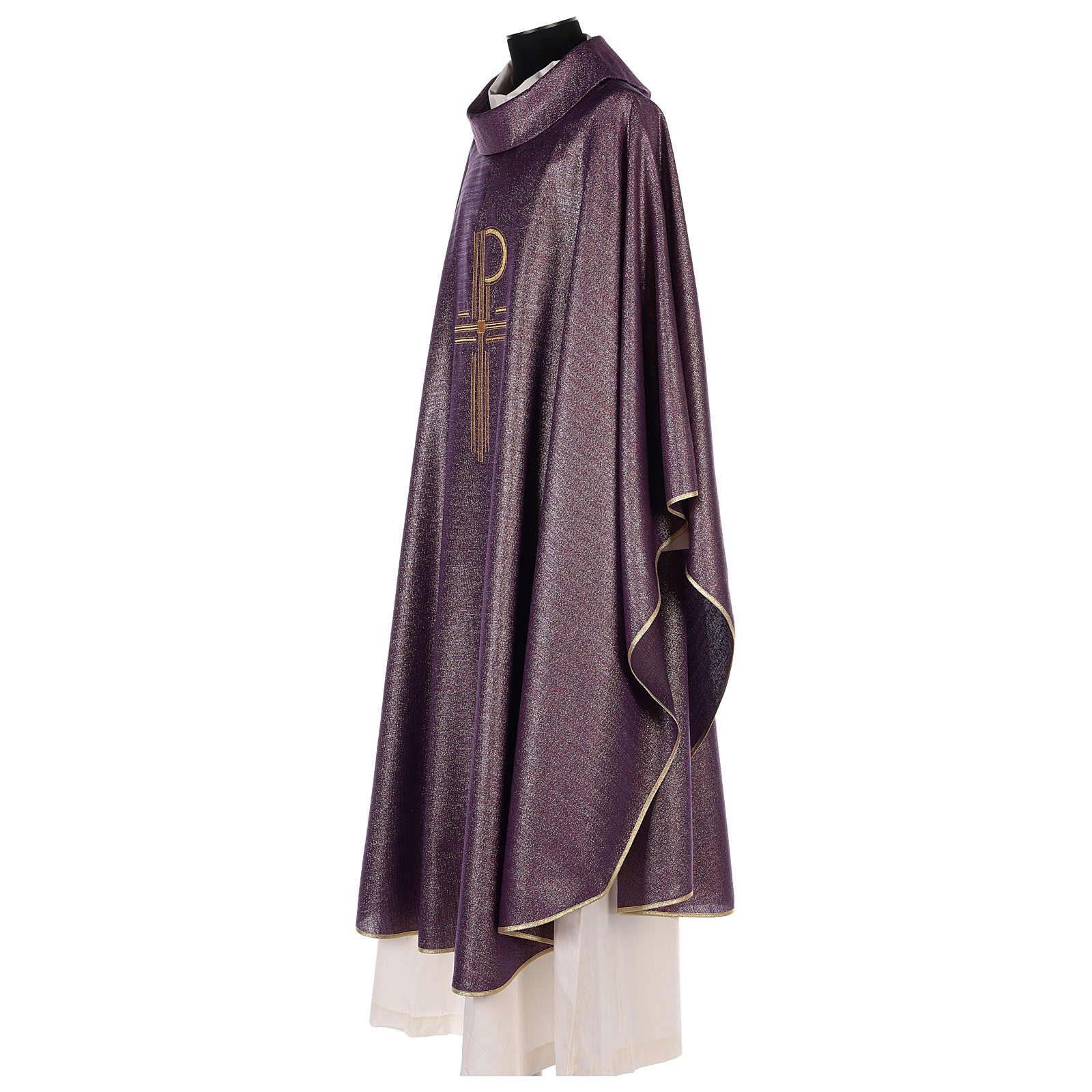 Casulla brillante 100% pura lana virgen bordado XP 4