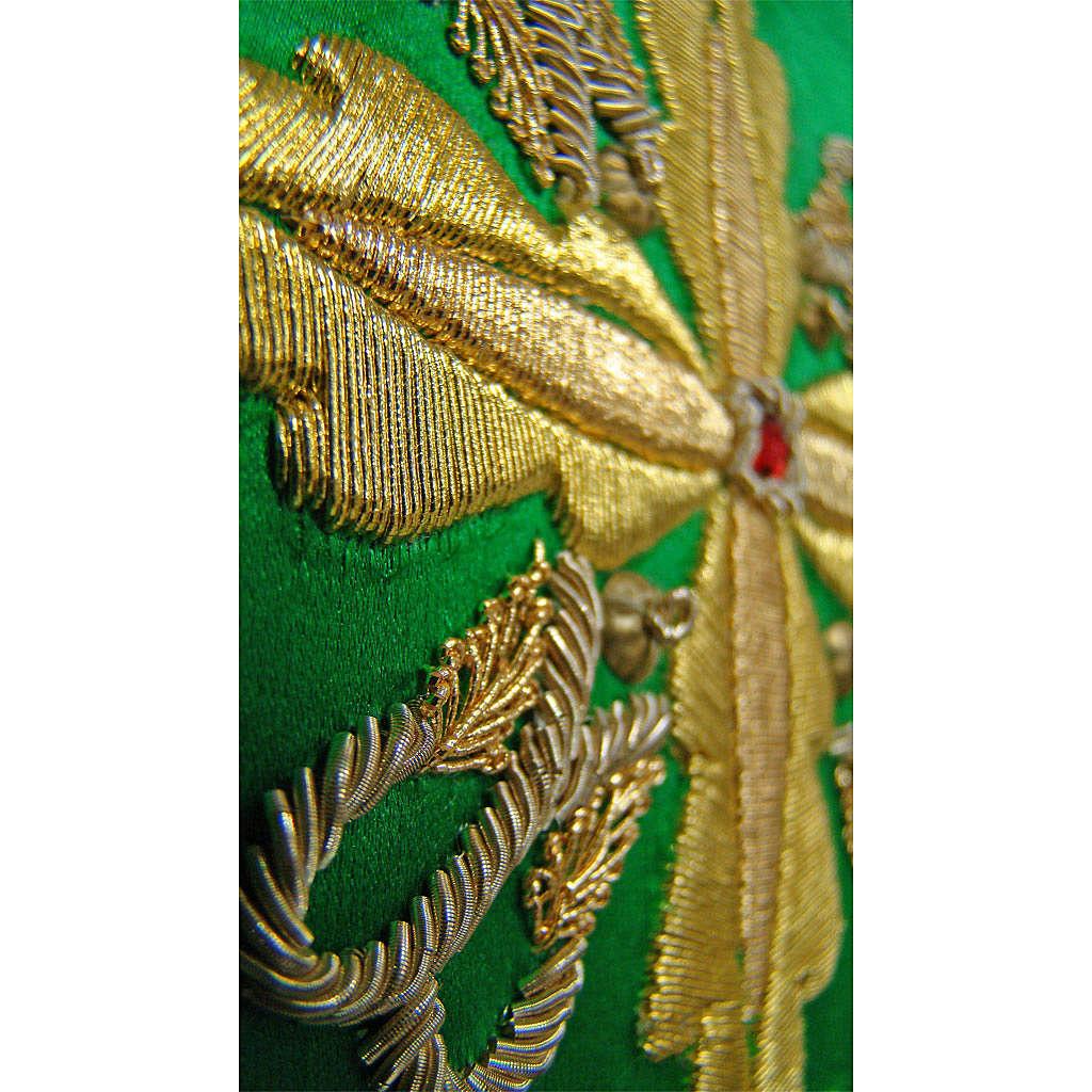 Ornat HAFT RĘCZNY dekoracje krzyż 100% jedwab naturalny 4