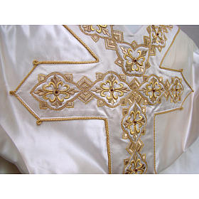 Casulla 100% seda pura natural BORDADO A MANO cruces decoradas s2