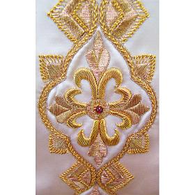 Casulla 100% seda pura natural BORDADO A MANO cruces decoradas s3