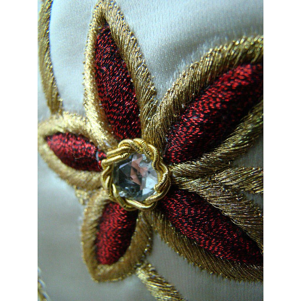 Casula 95% pura lana vergine doppio ritorto 5% lurex RICAMO MANO 4