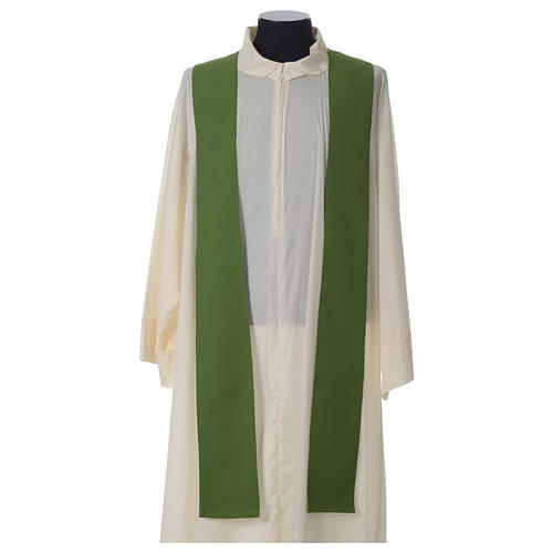 Ivory chasuble with Eucharist symbol in polyester 8