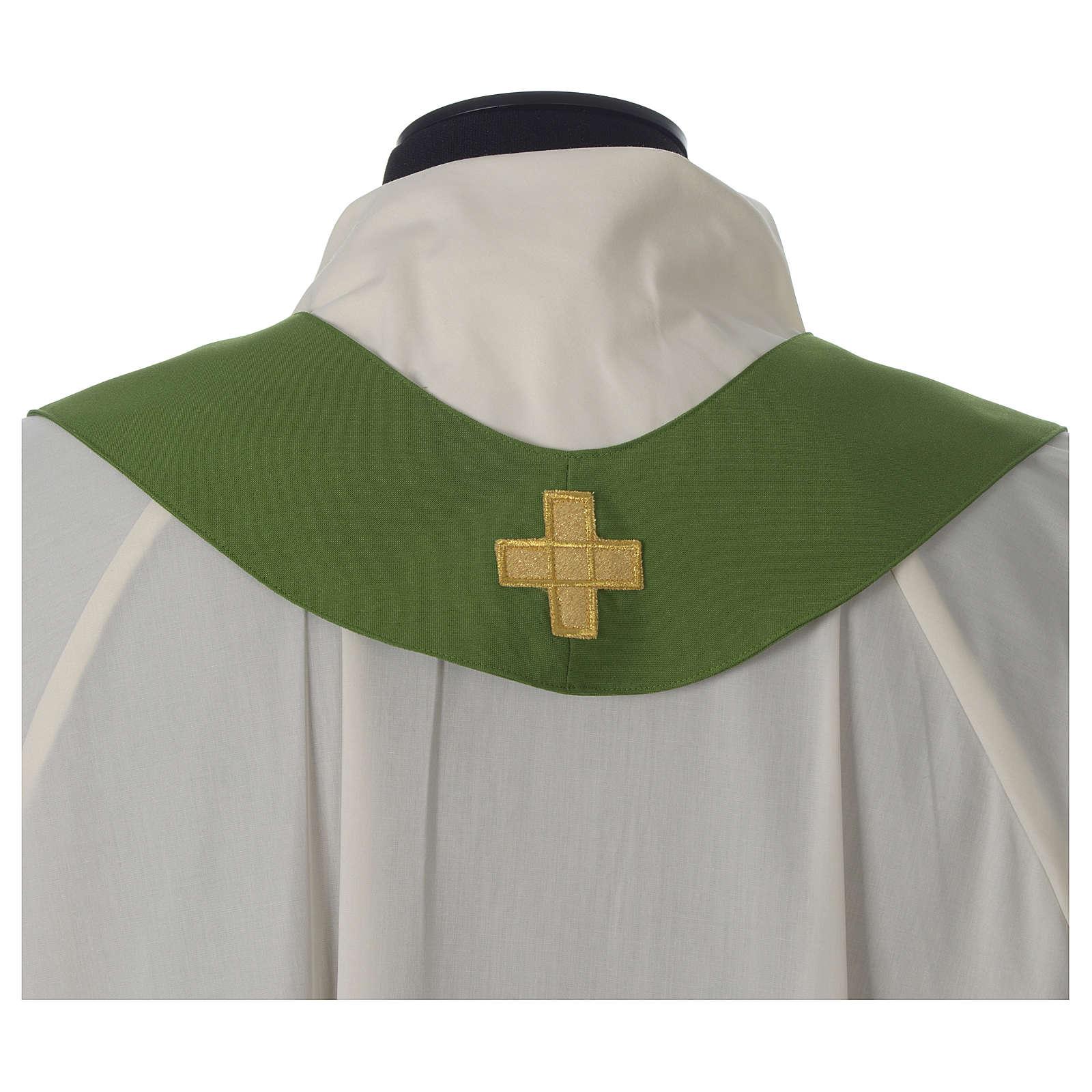 Casulla marfil eucaristía poliéster 4