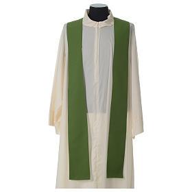 Chasuble ivoire brodée symboles eucharistiques polyester s8