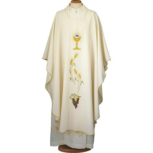 Ornat kość słoniowa eucharystia poliester 1