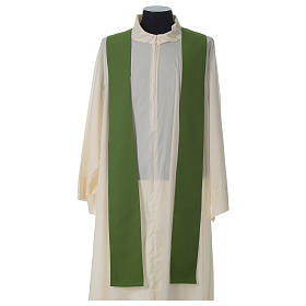 Ivory chasuble with Eucharist symbol in polyester s8