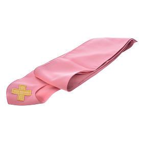 Casula rosa con ricamo croce s6