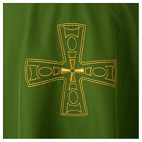Catholic Priest Chasuble with embroidered gold cross s7