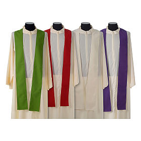 Catholic Priest Chasuble with embroidered gold cross s8