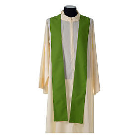 Catholic Priest Chasuble with embroidered gold cross s9