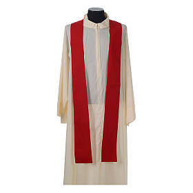 Catholic Priest Chasuble with embroidered gold cross s10