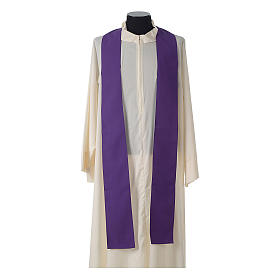 Catholic Priest Chasuble with embroidered gold cross s12