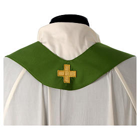 Catholic Priest Chasuble with embroidered gold cross s13