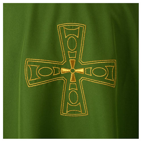 Catholic Priest Chasuble with embroidered gold cross 7