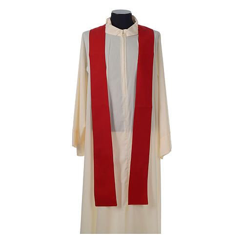 Catholic Priest Chasuble with embroidered gold cross 10