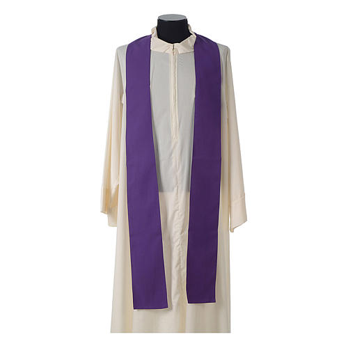 Catholic Priest Chasuble with embroidered gold cross 12