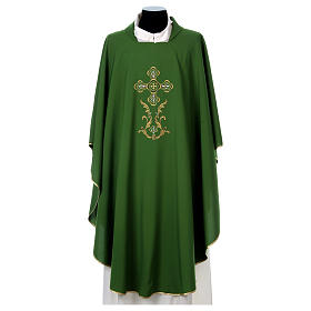 Liturgical chasuble with cross in 4 colours s2