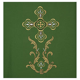 Liturgical chasuble with cross in 4 colours s3