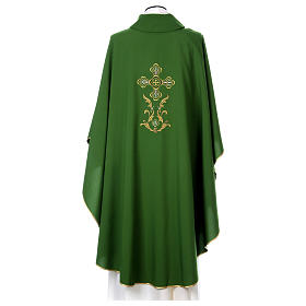 Liturgical chasuble with cross in 4 colours s5