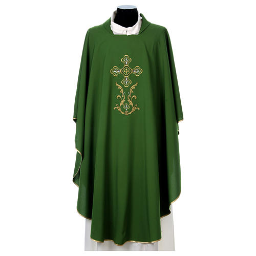 Liturgical chasuble with cross in 4 colours 2