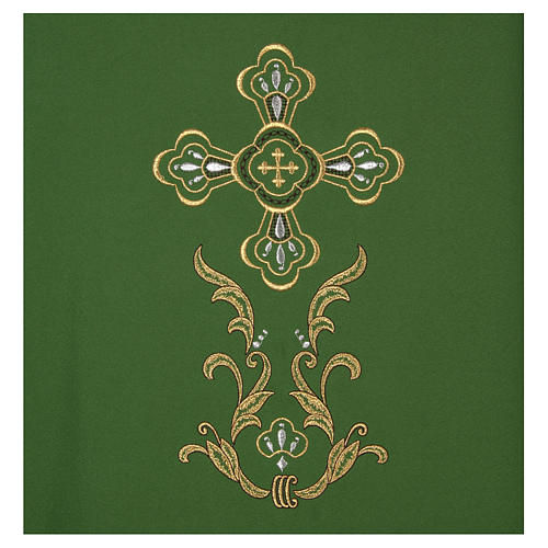 Liturgical chasuble with cross in 4 colours 3