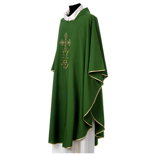 Liturgical chasuble with cross in 4 colours 4