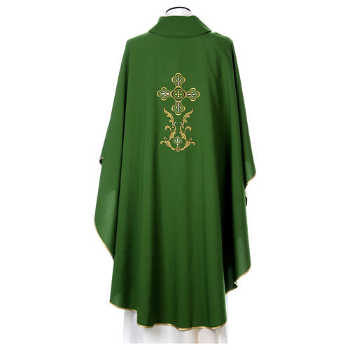 Liturgical chasuble with cross in 4 colours 5