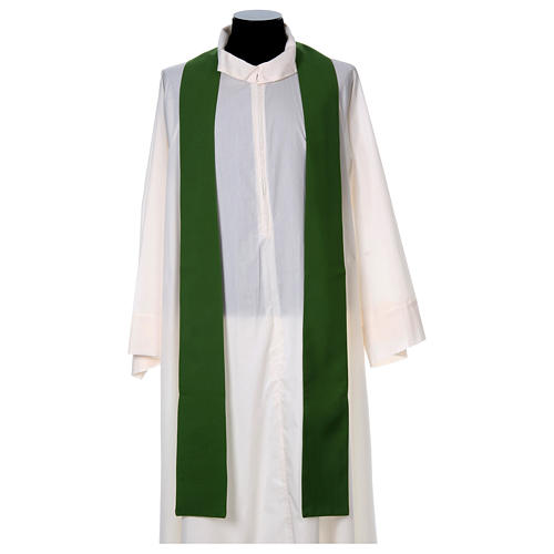 Liturgical chasuble with cross in 4 colours 6