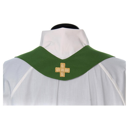 Liturgical chasuble with cross in 4 colours 7