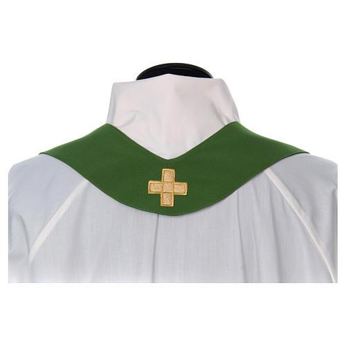 Casulla bordada cruz 4 colores 7