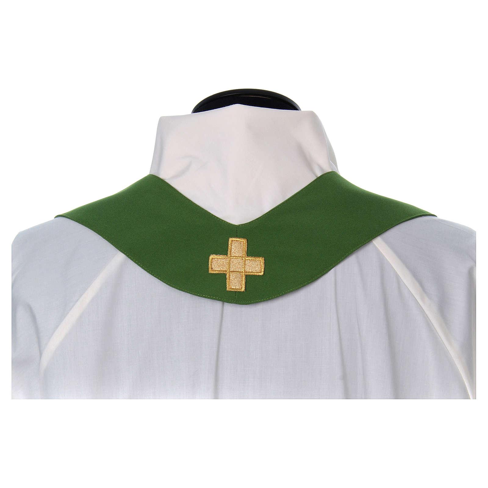 Casula bordado cruz 4 cores 4