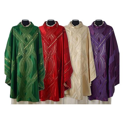 Casula lana seta lurex intreccio 1