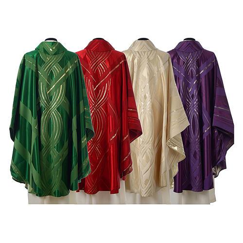 Casula lana seta lurex intreccio 2