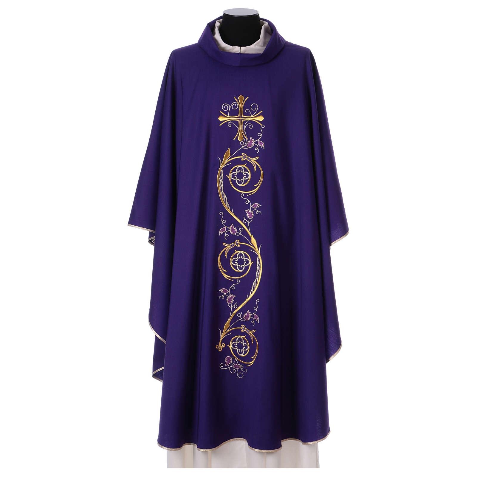 Chasuble liturgique laine 4 couleurs 4