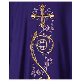 Chasuble liturgique laine 4 couleurs s2