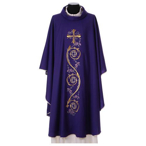 Chasuble liturgique laine 4 couleurs 1