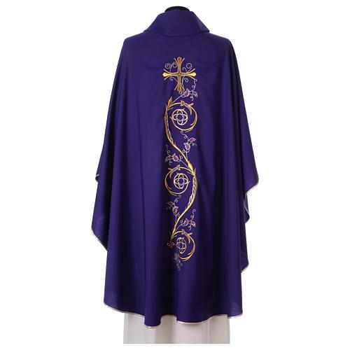 Chasuble liturgique laine 4 couleurs 3