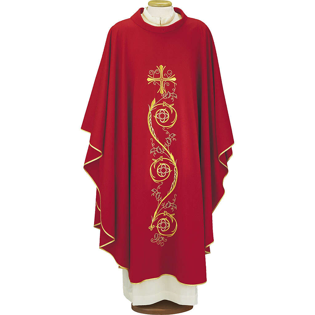 Chasuble in pure wool, 4 colours 4