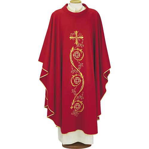 Chasuble in pure wool, 4 colours 1