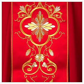 Casula con stolone pura lana decoro oro s2