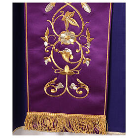 Casula con stolone pura lana decoro oro s7