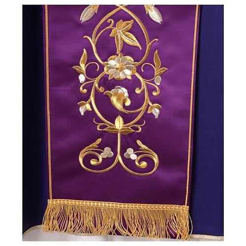 Casula con stolone pura lana decoro oro 7