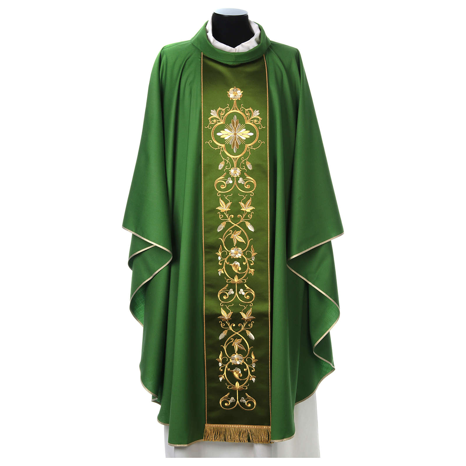 Wool Chasuble with gold embroidered orphrey
