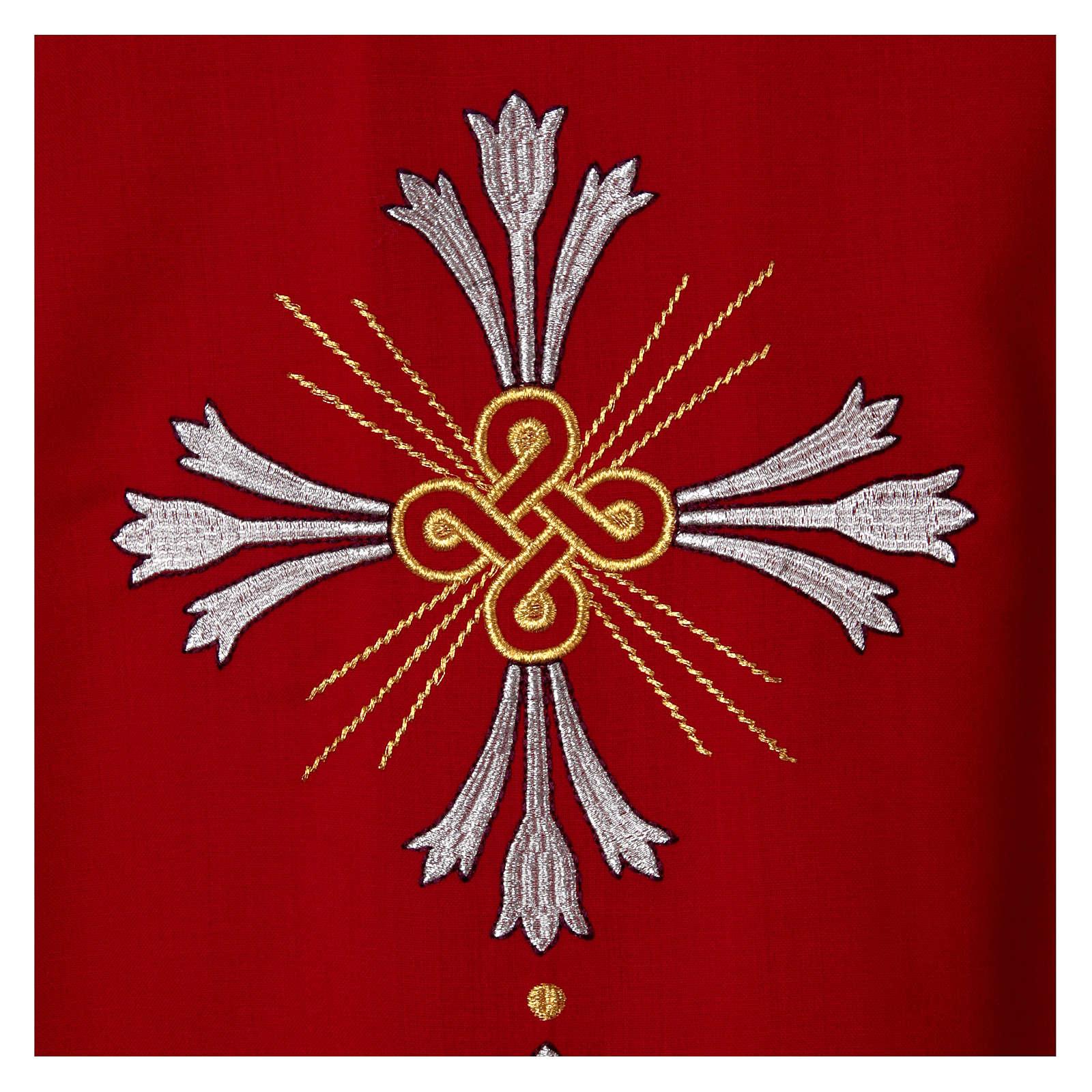 Chasuble pure laine avec croix et lis 4