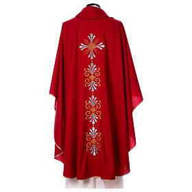 Chasuble pure laine avec croix et lis s5