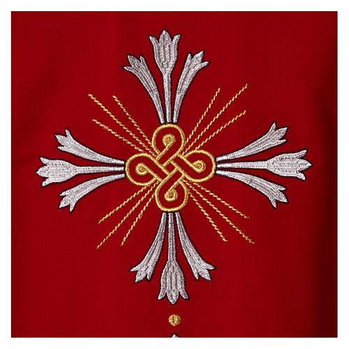 Chasuble pure laine avec croix et lis 2