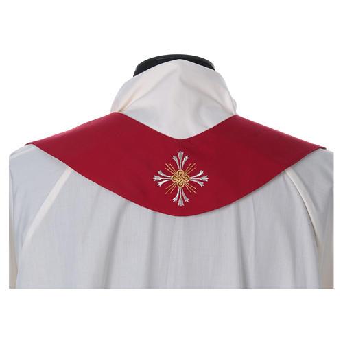 Chasuble pure laine avec croix et lis 6