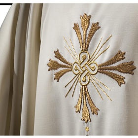 Chasuble in pure wool, cross and lily  s2